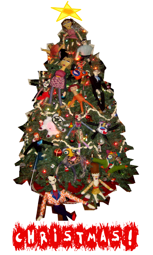 Merry Christmas Doll Tree - White Christmas 580