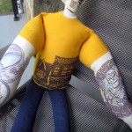 Three Steeler Nation Tattoo Men Dolls