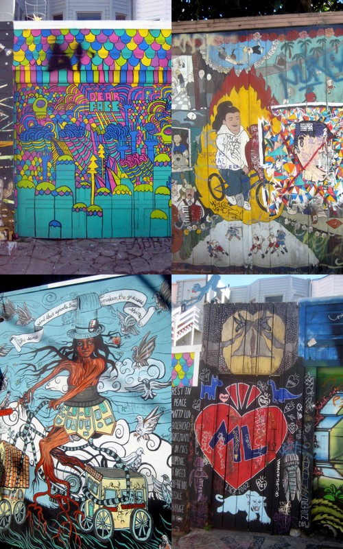 Art california mural alley of the mission razblint for California mural