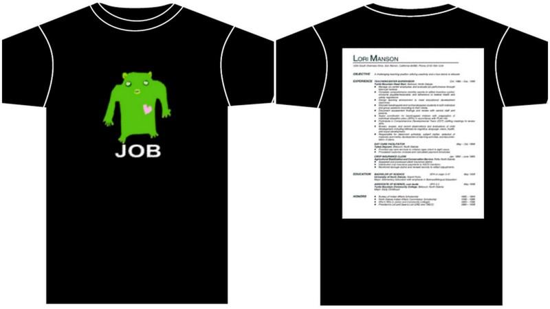 resume t shirt
