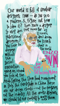 Designer Talking Heads: Ezio Manzini, on amateur designers