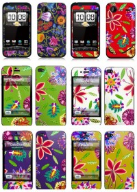 Drawn flower Smartphone Covers