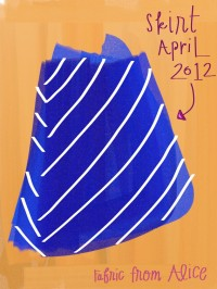 April skirt, blue with white