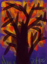 Purple Night Tree