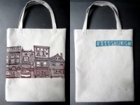 Pittsburgh Houses Tote Bags
