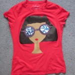 Tshirt: Girl with Big Hair + Big Glasses