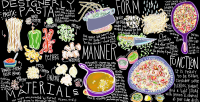 Drawn Recipe: Designerly Pasta