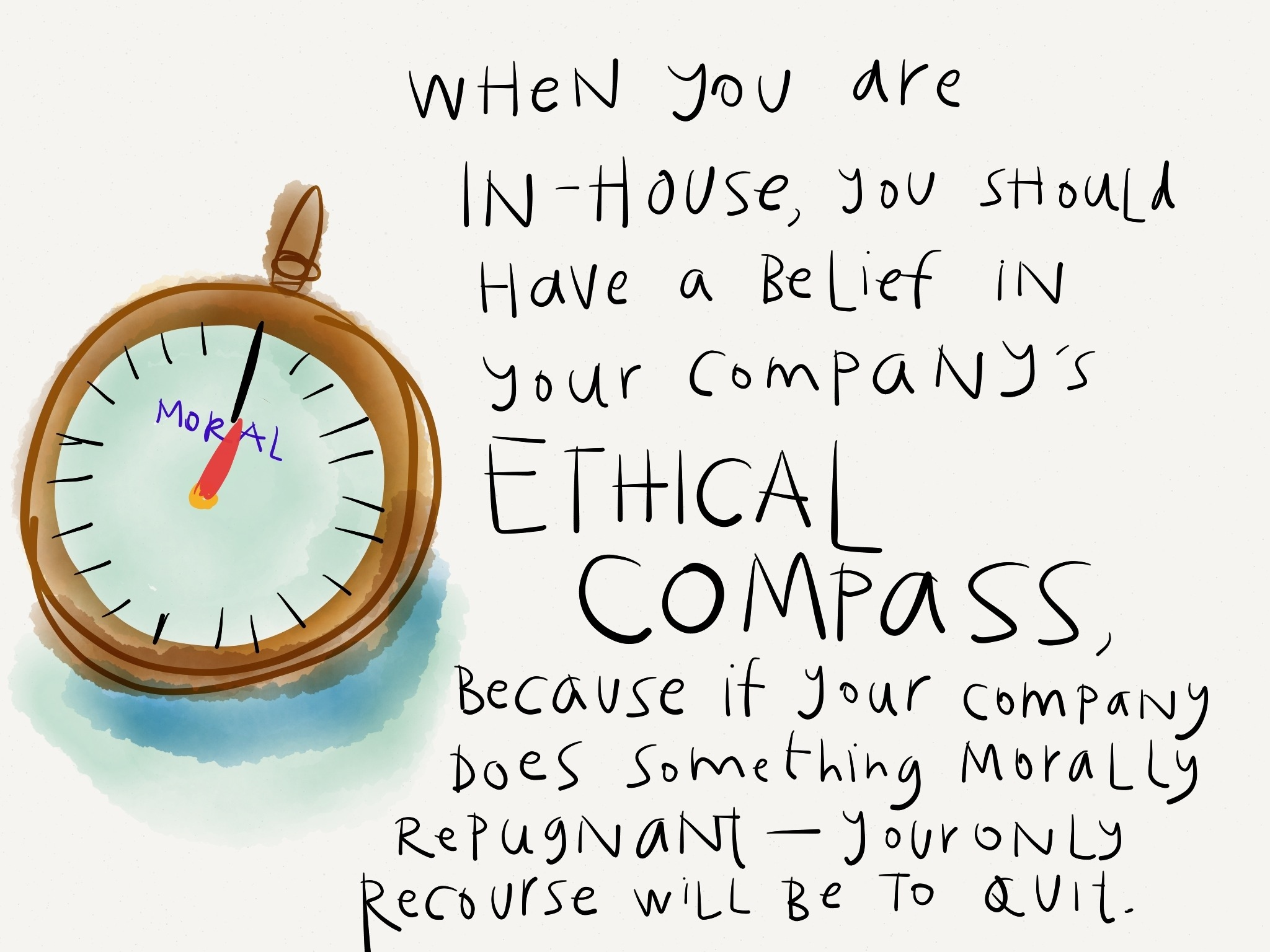 ethical compass as in house counsel