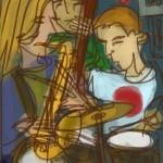 Coho Jazz night, drawn Stanford