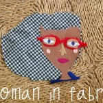 Woman in Fabric, portrait