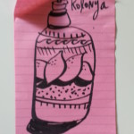 Kolonya bottle sketch