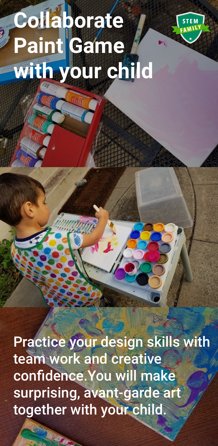 The Collaborate Paint Game for parent and kid design thinking - Razblint